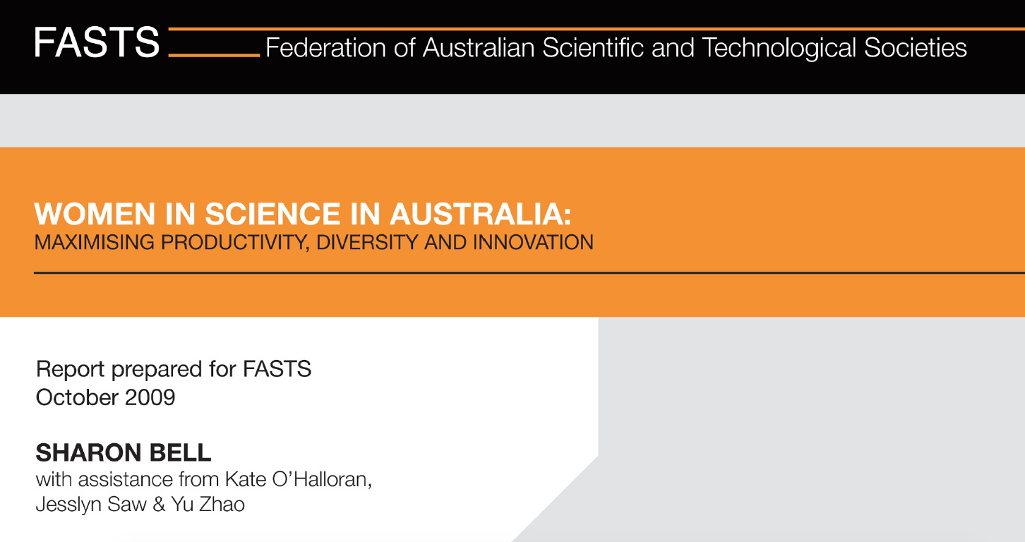 Cover image of Women in Science Australia: Maximising productivity, diversity and innovation