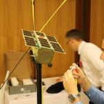 Iain from UNSW assembling a cubesat