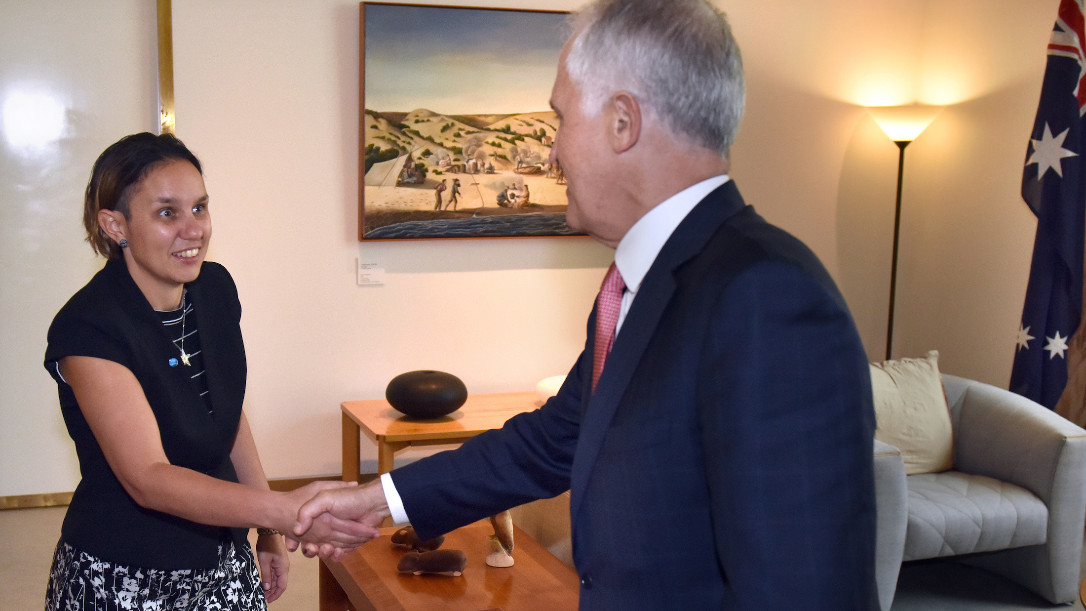 Former Scholarship Recipient, Dr Cass Hunter meeting with Prime Minister Malcolm Turnbull in 2017.