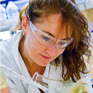 Dianne Jolley in the lab, image courtesy of UoW