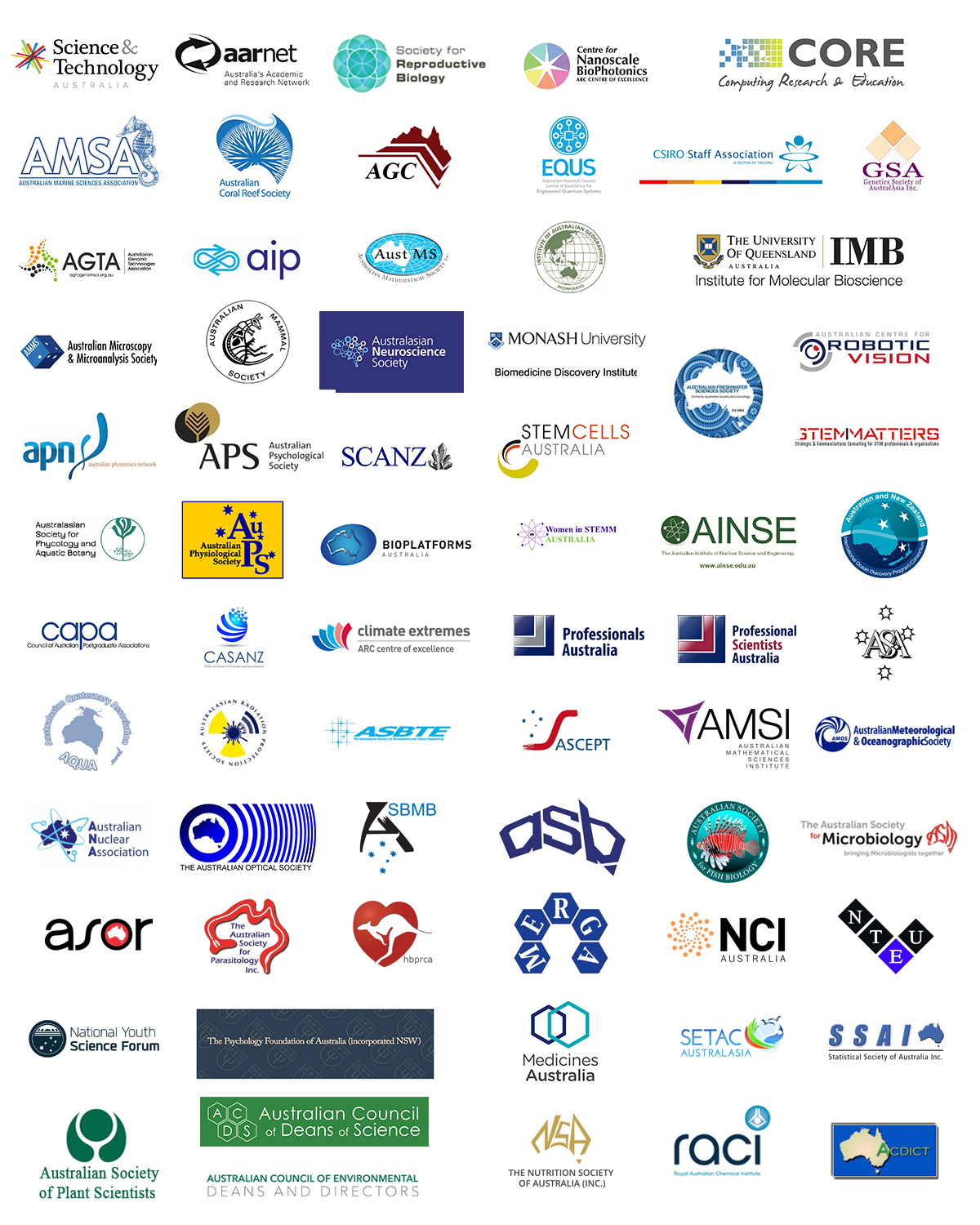 member logos for all the organisations that support the communique