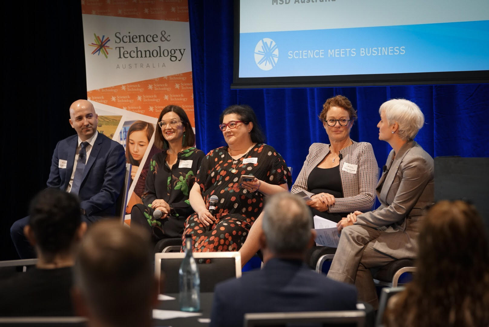 pannellists discussing the next big thing in high tech at Science meets Business