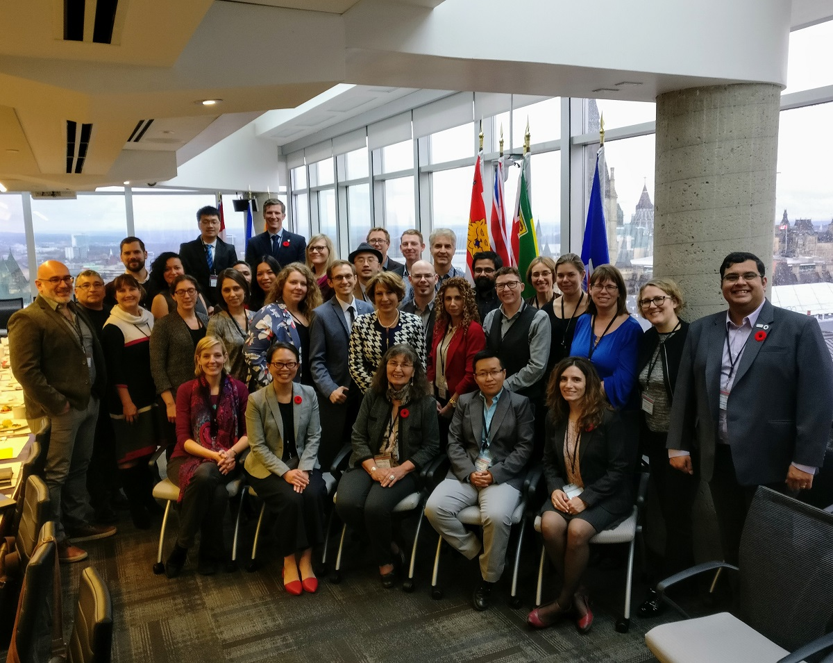 group photo of delegates from the first Canadian Science meets Parliament