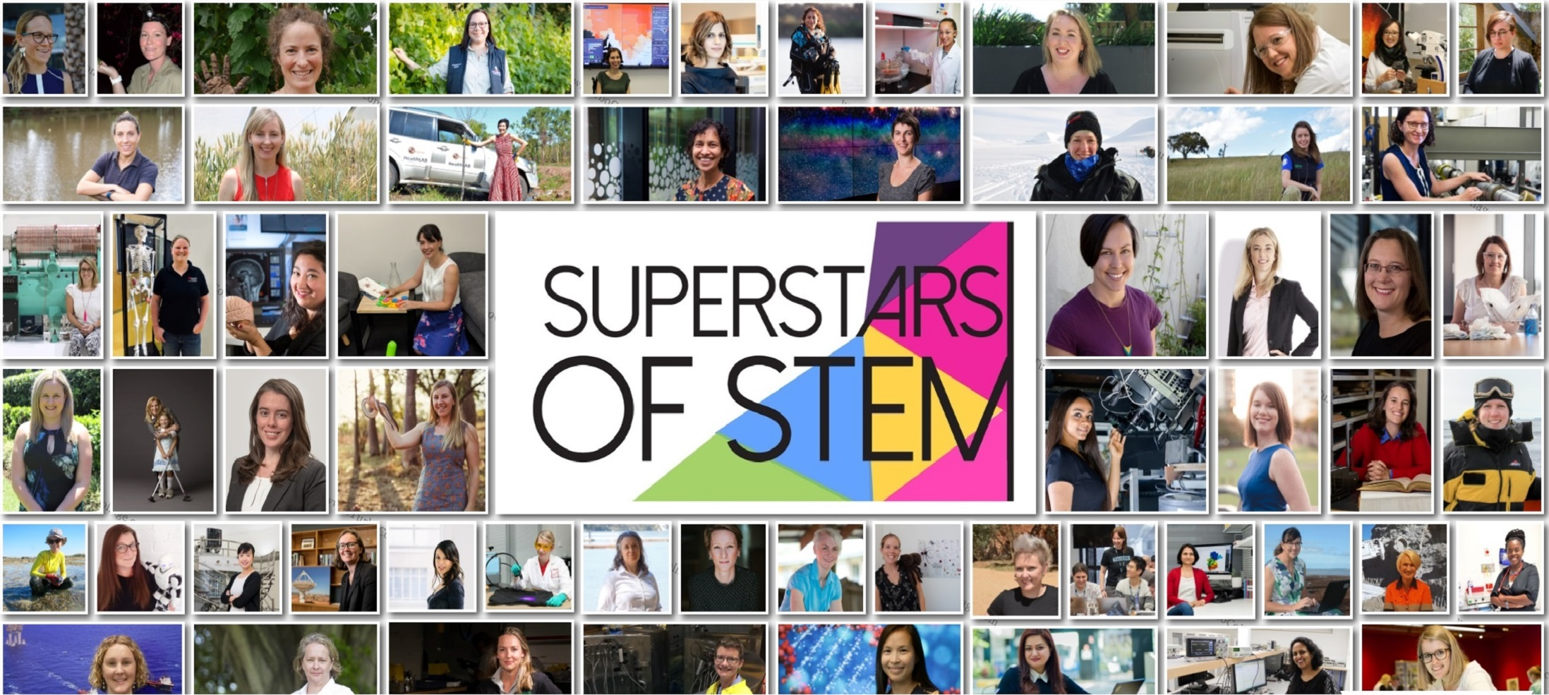Collage of Superstars of STEM 2019