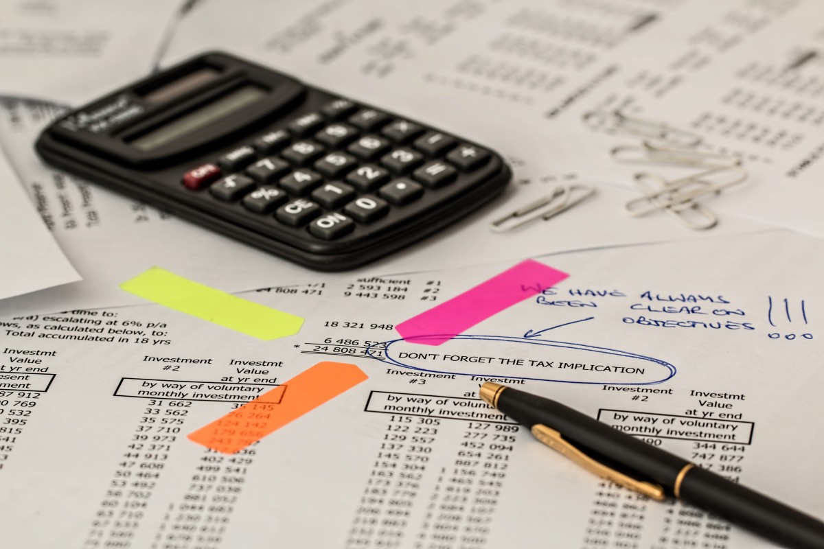 calculator and financial tables