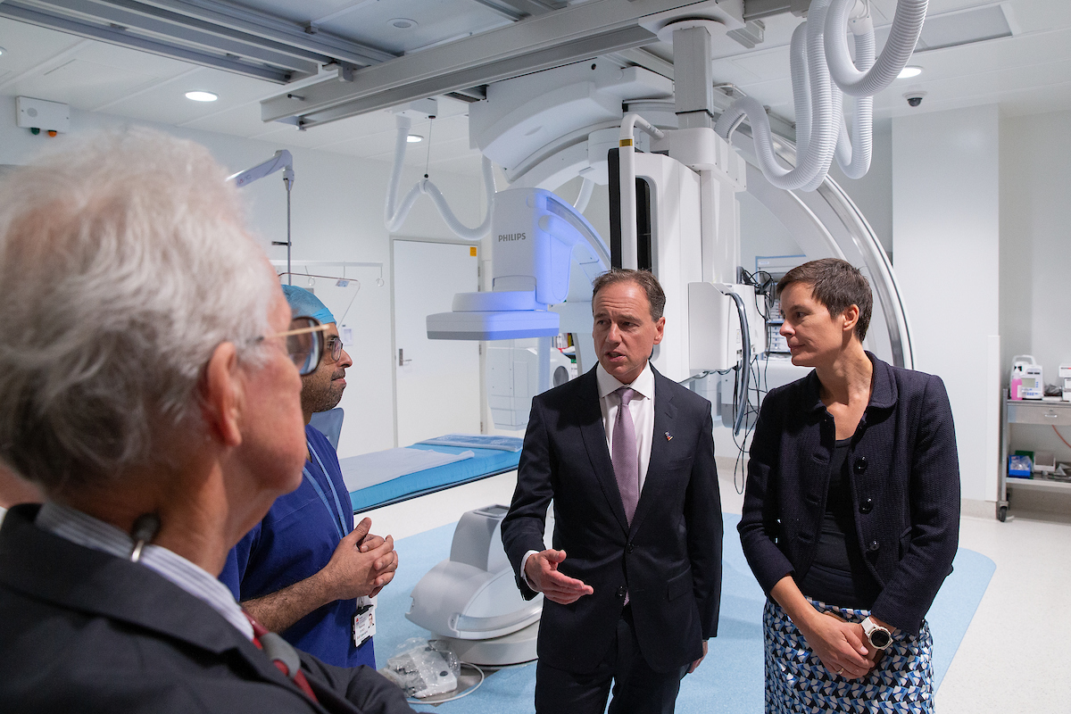Minister for Health, Greg Hunt and Gemma Figtree from ACvA