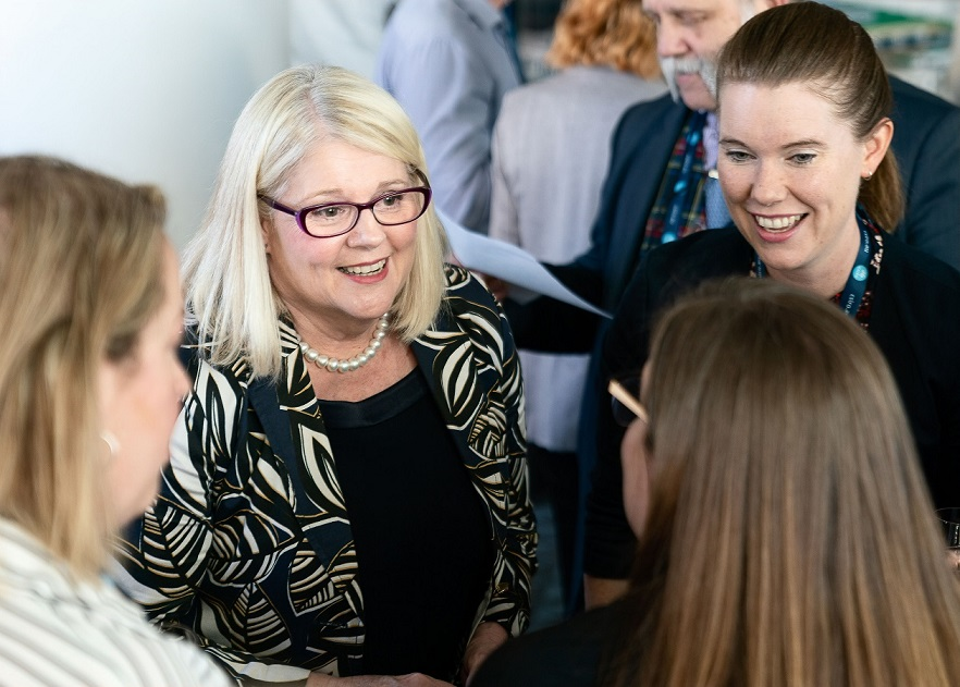 Science Minister Karen Andrews MP meets with delegates at #SmP2019 Photo: Bradley Cummings