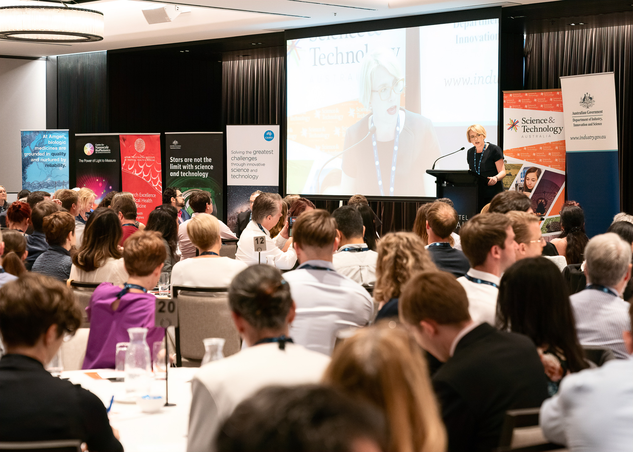 Science and Technology Australia (STA). Science Meets Parliament. Realm Hotel. 26 November 2019. Photo: Bradley Cummings