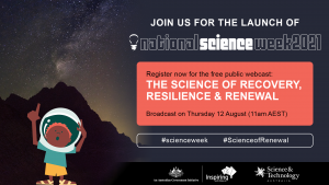 Join us for the launch of National Science Week 2021